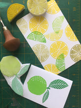 Load image into Gallery viewer, Handmade rubber stamps Planner stamp set hand carved fruit stamp set limited edition fruit stamp set card making stamp set fabric printing