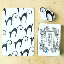 Load image into Gallery viewer, Witch rubber stamp set, halloween stamp set, halloween craft set, black cat stamp, witch shoe stamp, rubber stamp set, spooky craft set