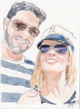 Load image into Gallery viewer, Custom watercolour portrait - couples, family, children