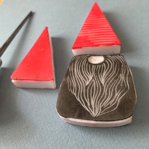 Tomten - Handmade Rubber Stamp Set