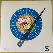 Load image into Gallery viewer, Ramen - original hand-printed block print