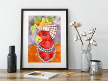 Load image into Gallery viewer, Carmen Miranda Parrot Fine Art Print