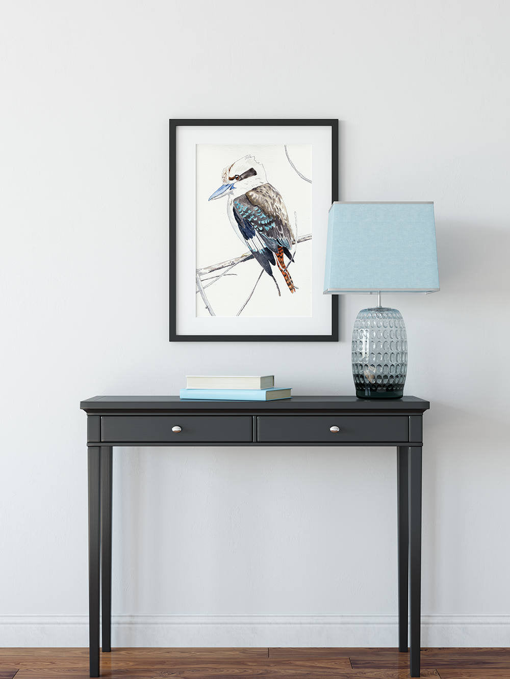 Kookaburra portrait, kookaburra art print, Australian gift, native bird painting, Australian souvenir, nature art print, nature wall decor