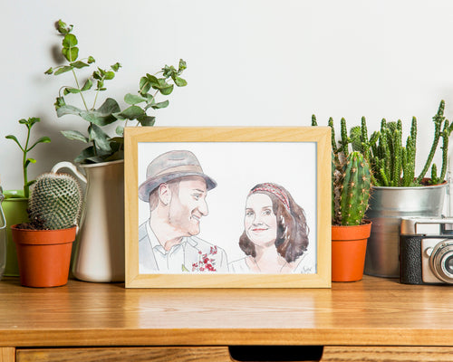 Custom watercolour portrait - couples, family, children