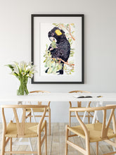 Load image into Gallery viewer, 'Cockatoo chow time' - Watercolour Fine Art Print