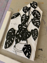 Load image into Gallery viewer, Monstera - limited edition linocut print
