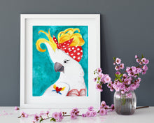 Load image into Gallery viewer, Rockabilly Parrot Fine Art Print