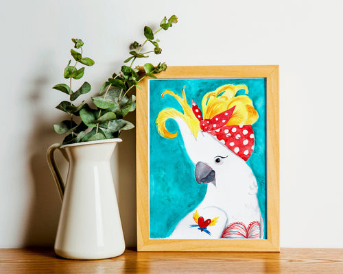 Rockabilly Parrot Fine Art Print