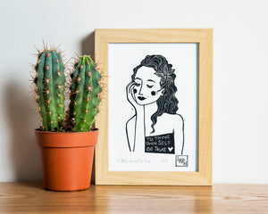 To thine own self be true - original linoprint