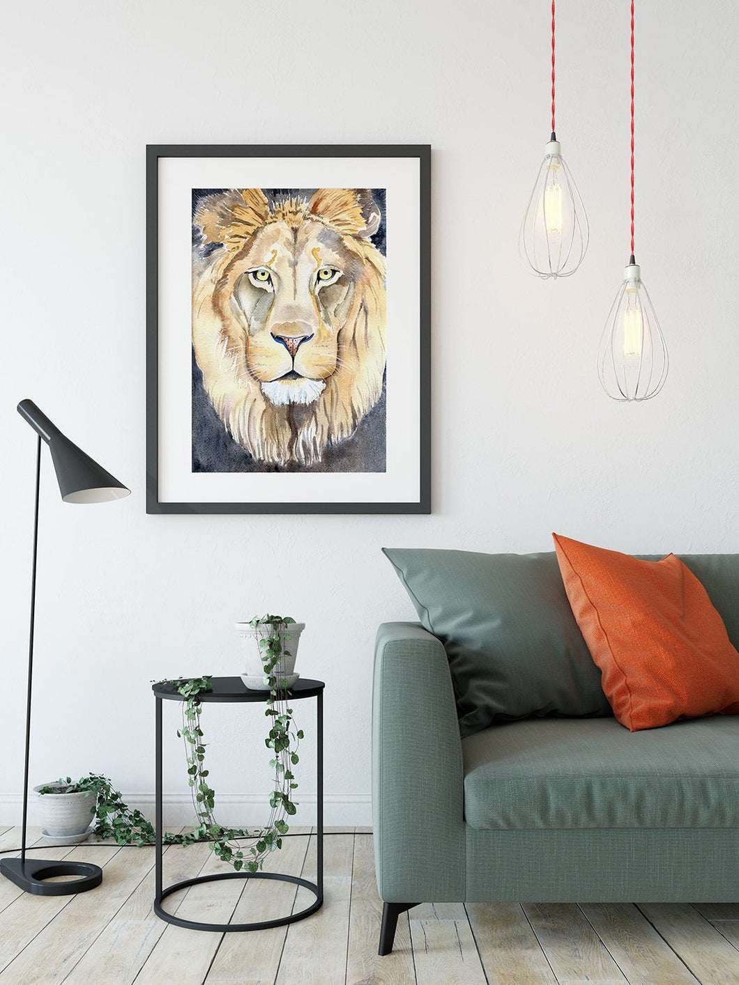 Lion art print, Nursery Safari Decor, king of the jungle, Watercolour Lion, lion painting, Leo Art, Safari Animal Print, kids room lion art