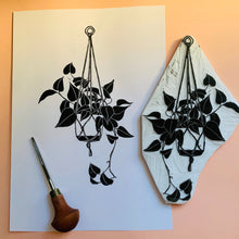 Load image into Gallery viewer, Philodendron Cordatum - limited edition linocut print