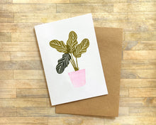 Load image into Gallery viewer, Tropical Pot Plants - Handmade Rubber Stamp Set