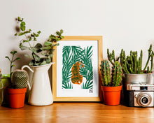 Load image into Gallery viewer, Tiger en couleur - limited edition handmade linoprint