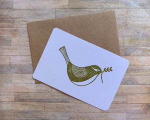 Dove - Handmade Rubber Stamp