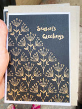 Load image into Gallery viewer, Gold and Black - Risoprinted Christmas Card Set