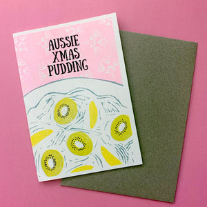 Aussie Xmas - Pack of 4 Risoprinted Christmas Cards