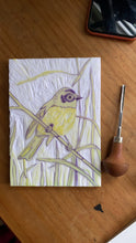 Load image into Gallery viewer, Pink Robin Reduction Print, Australian native bird artwork, Limited Edition Linoprint