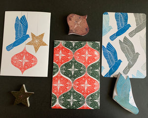 Ornaments - Christmas Handmade Rubber Stamp Set