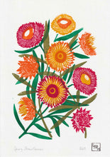 Load image into Gallery viewer, Spring Strawflowers - Original 5 layer Linoprint