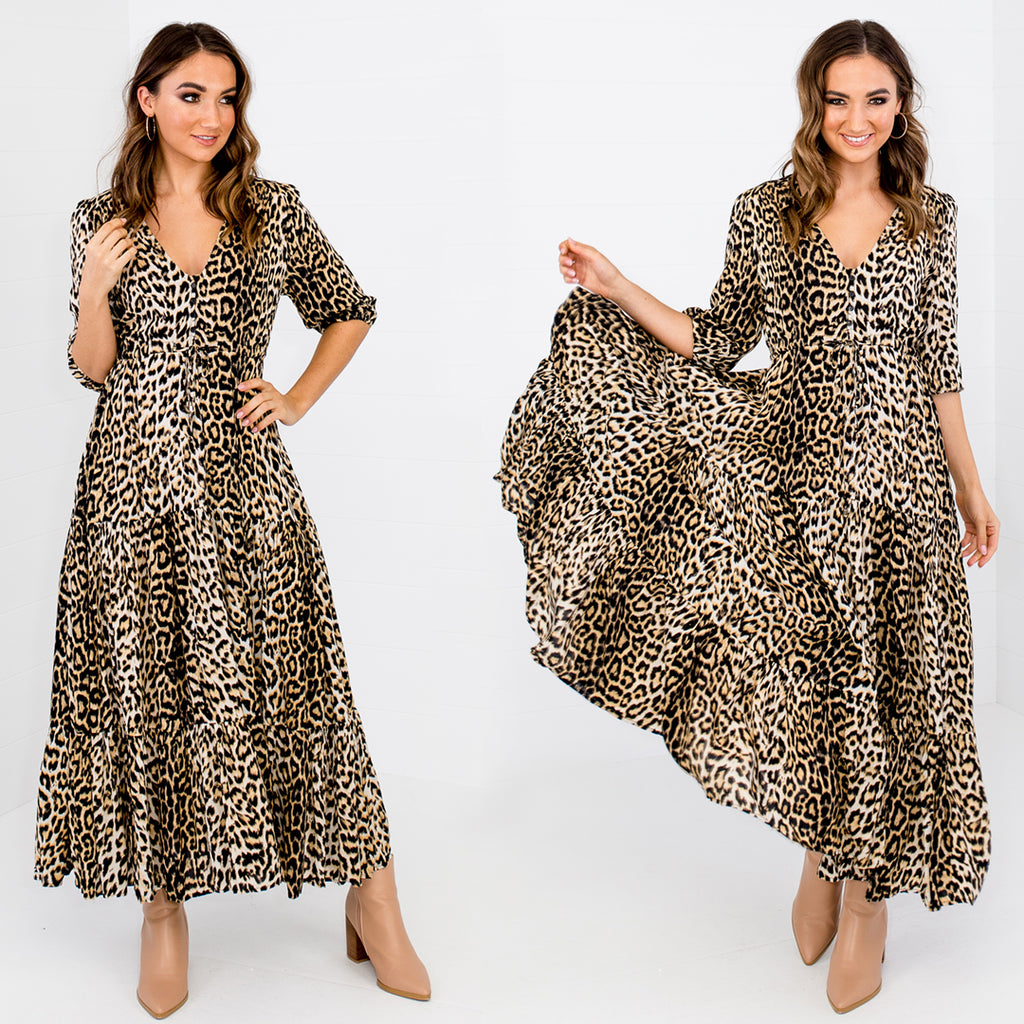 how to wear a leopard print dress