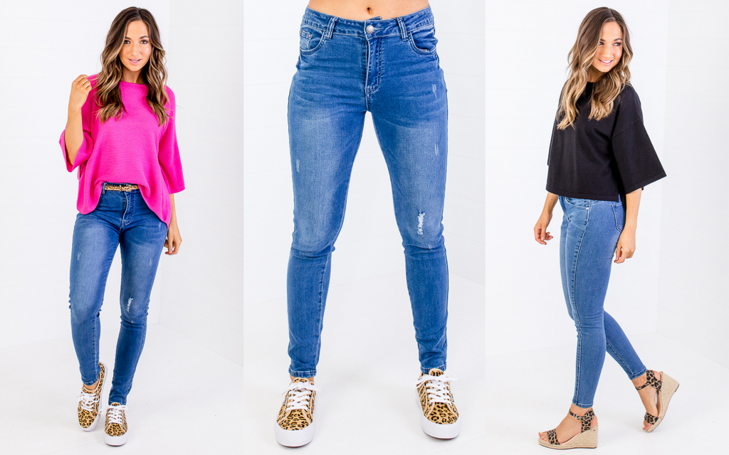 high waisted jeans styling