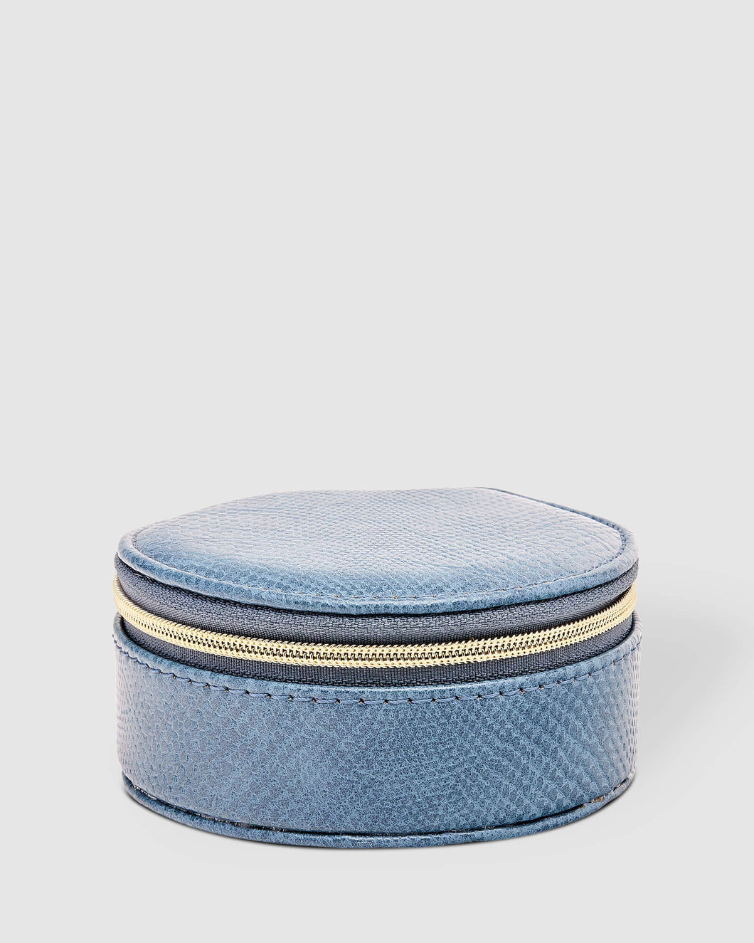LOUENHIDE SISCO LIZARD JEWELLERY BOX - DENIM