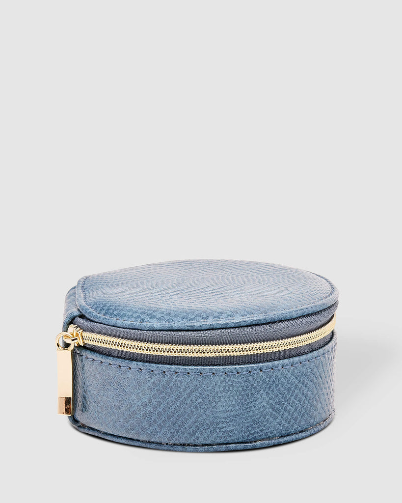 Load image into Gallery viewer, LOUENHIDE SISCO LIZARD JEWELLERY BOX - DENIM