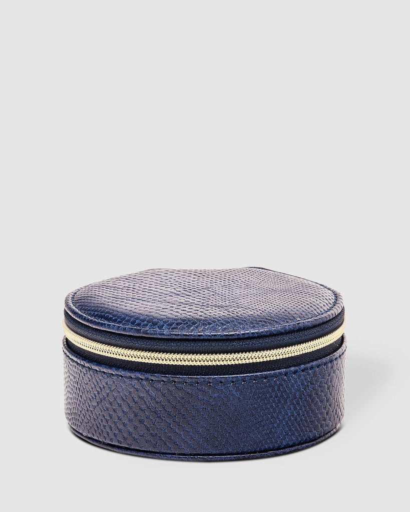 Load image into Gallery viewer, LOUENHIDE SISCO LIZARD JEWELLERY BOX - NAVY