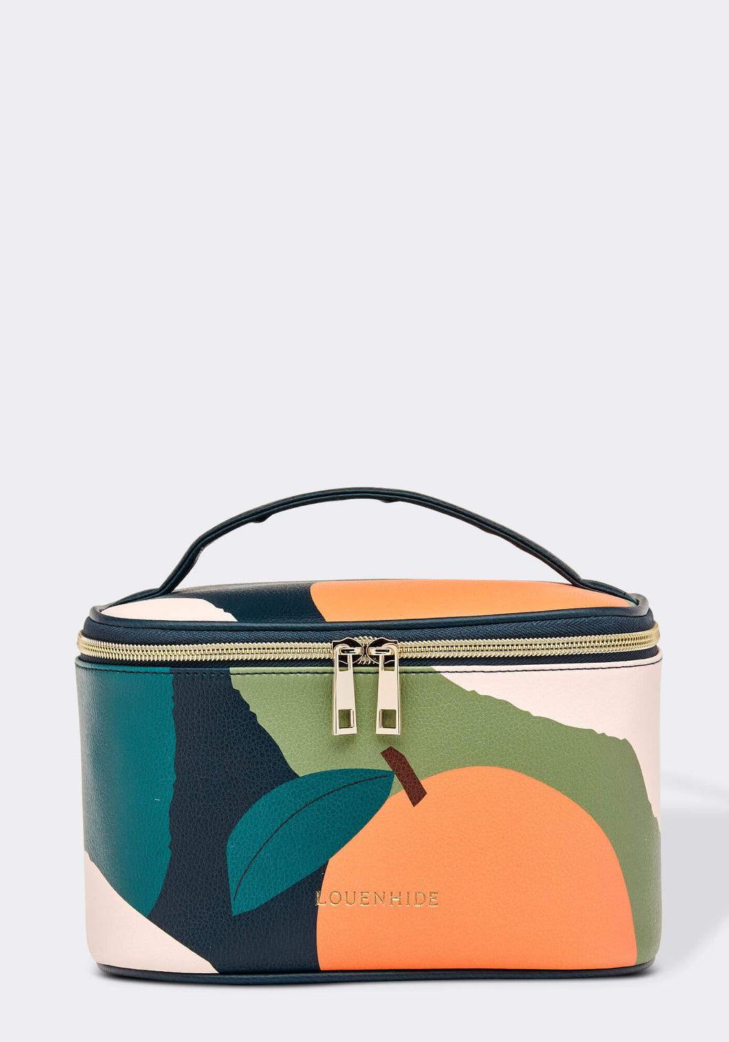 LOUENHIDE ONTARIO COSMETICS CASE - ORANGE AND GREEN