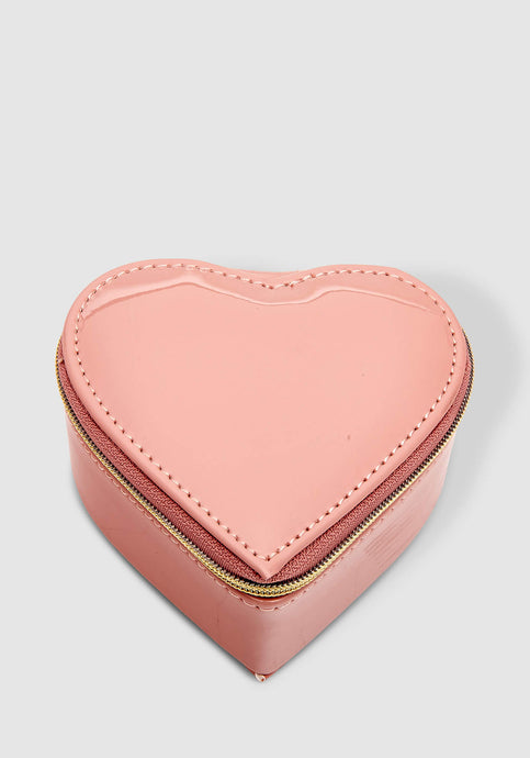 LOUENHIDE HEART JEWELLERY BOX - NUDE