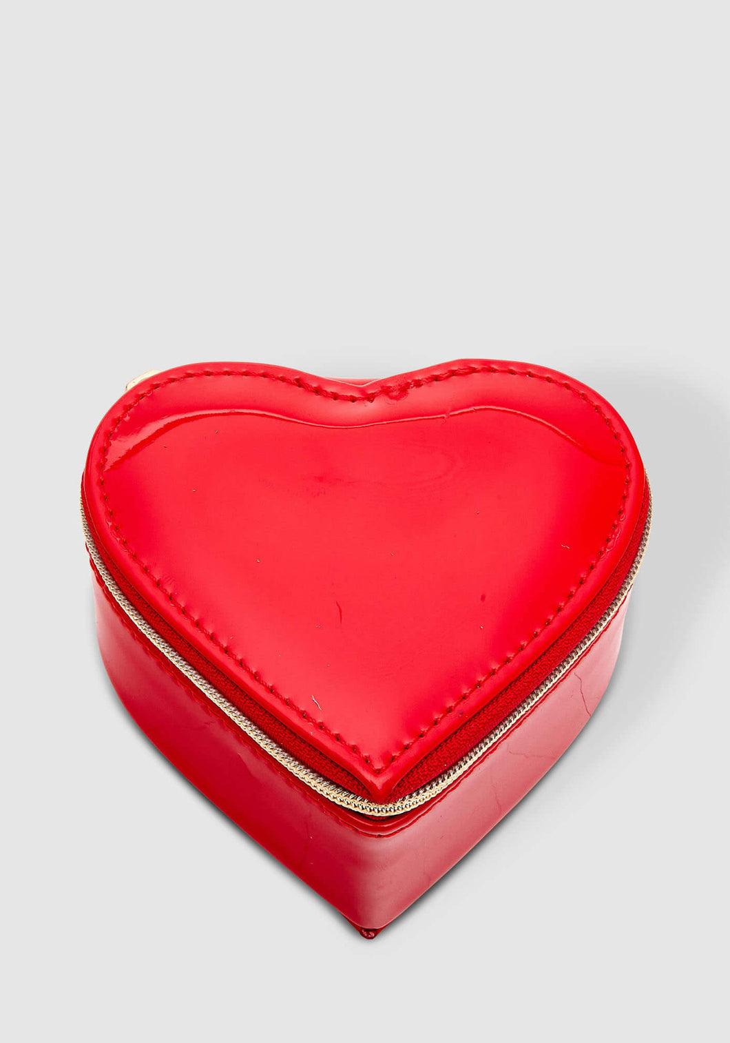 LOUENHIDE HEART JEWELLERY BOX - RED