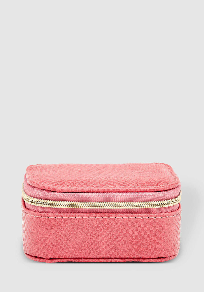 LOUENHIDE SUZIE LIZARD JEWELLERY BOX - DARK BLUSH