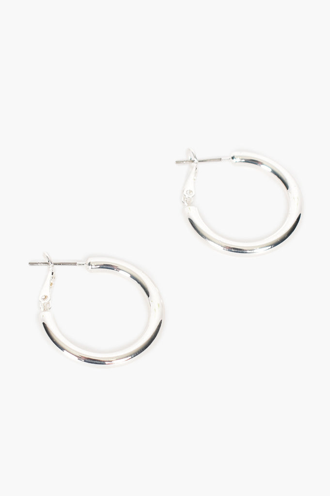 Load image into Gallery viewer, ADORNE - MID SIZE TUBE HOOPS - SILVER