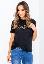 Load image into Gallery viewer, AMORE BLACK TEE