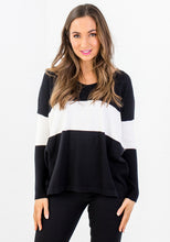 Load image into Gallery viewer, ARLO BLOCK STRIPE KNIT - BLACK & WHITE