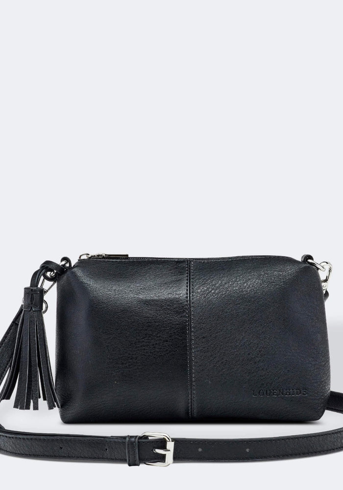 LOUENHIDE BABY DAISY CROSSBODY BAG - BLACK