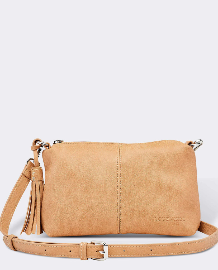 Load image into Gallery viewer, LOUENHIDE BABY DAISY CROSSBODY BAG- CAMEL