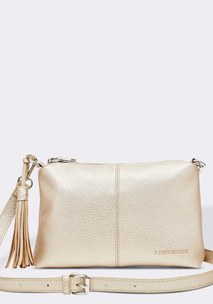 LOUENHIDE BABY DAISY CROSSBODY BAG- GOLD