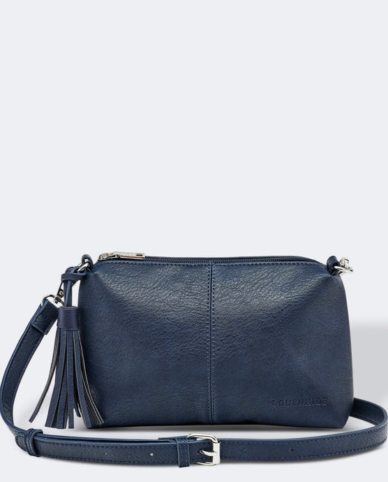 LOUENHIDE BABY DAISY CROSSBODY BAG- NAVY