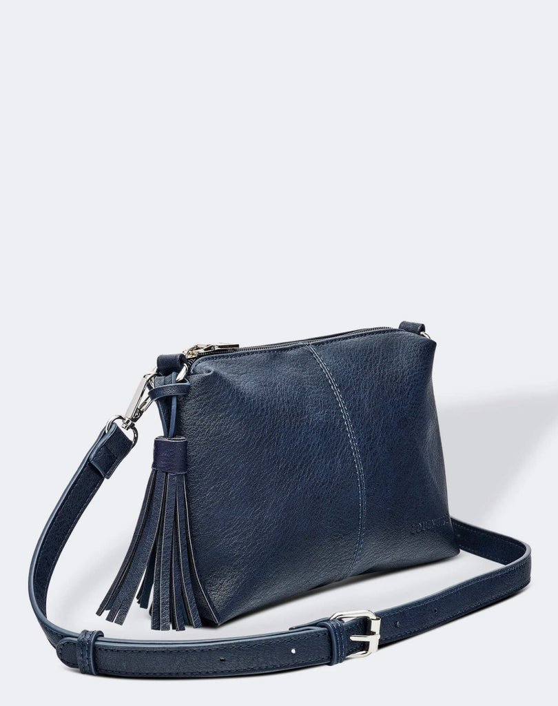 Load image into Gallery viewer, LOUENHIDE BABY DAISY CROSSBODY BAG- NAVY