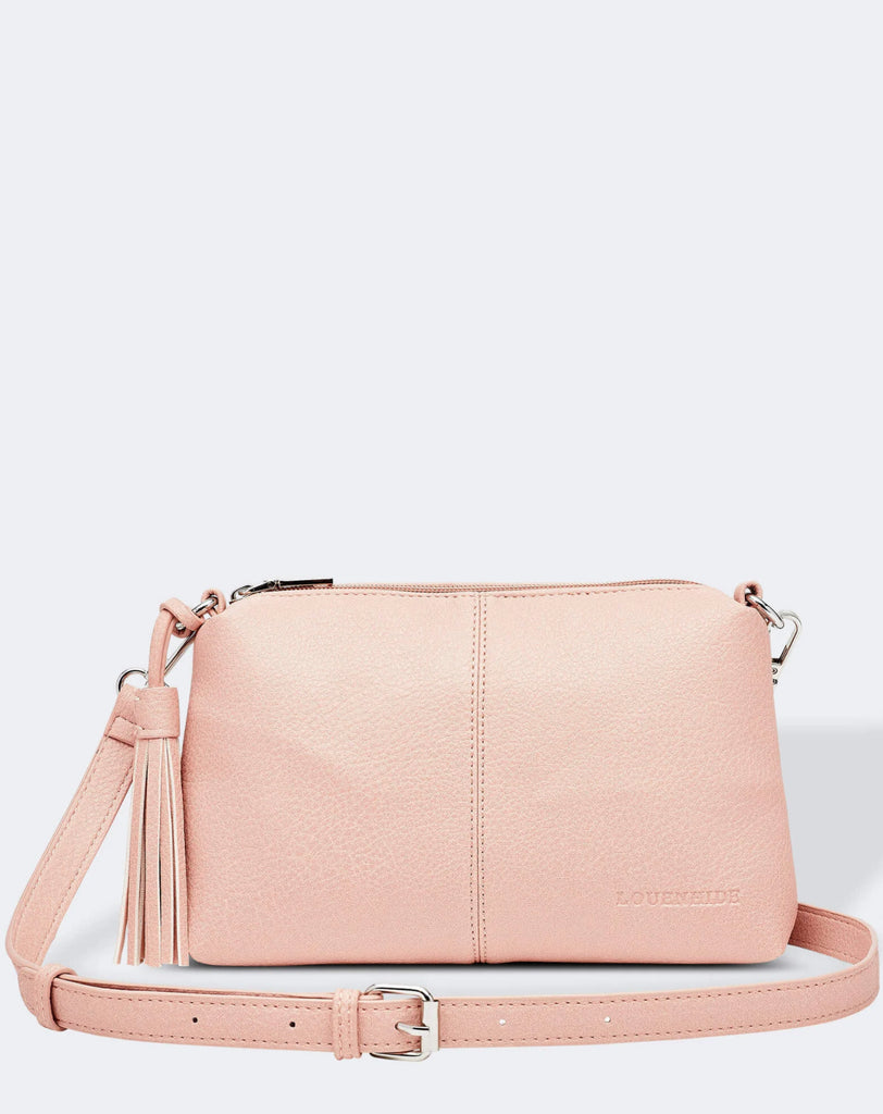 Load image into Gallery viewer, LOUENHIDE BABY DAISY CROSSBODY BAG- PALE PINK