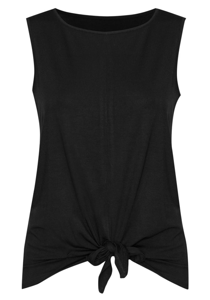 BAMBOO BILLIE TIE FRONT TANK - BLACK
