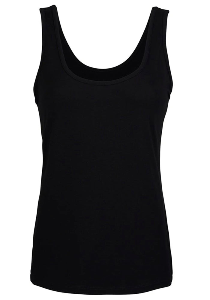 Load image into Gallery viewer, BAMBOO CINDY SINGLET - BLACK