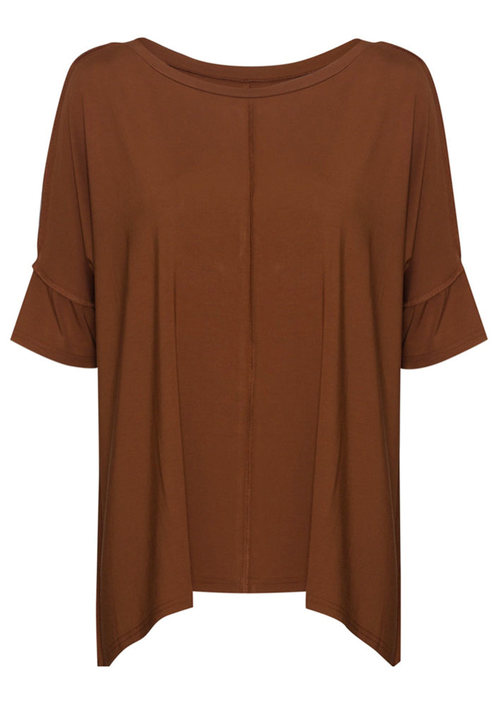 Load image into Gallery viewer, BAMBOO STELLA SLOUCH TEE - TOFFEE