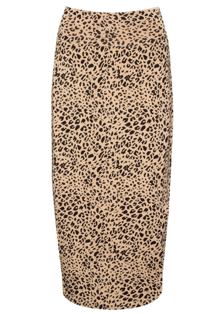 Load image into Gallery viewer, BAMBOO WHITNEY MAXI SKIRT - TAN LEOPARD