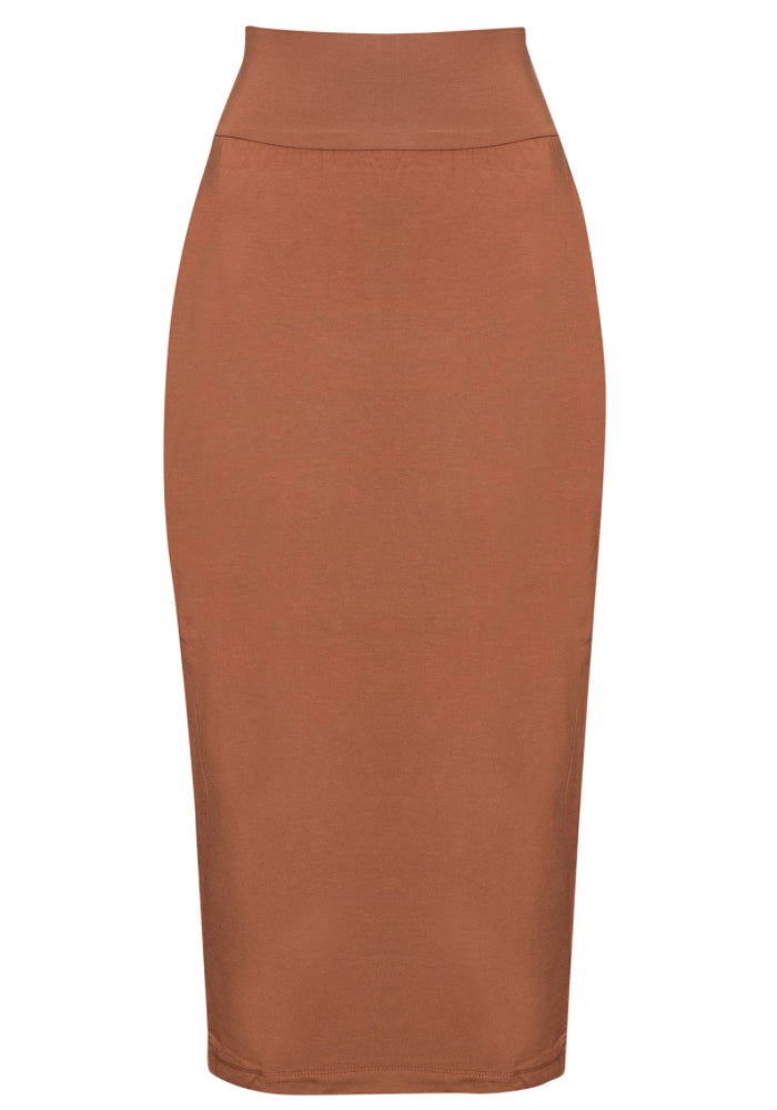 BAMBOO WHITNEY MAXI SKIRT - TOFFEE