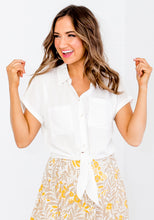 Load image into Gallery viewer, BRIENNA TIE SHIRT - WHITE