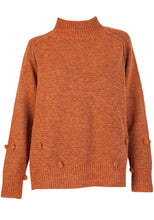 Load image into Gallery viewer, BRYNLEY HIGH NECK POM POM KNIT - TAN