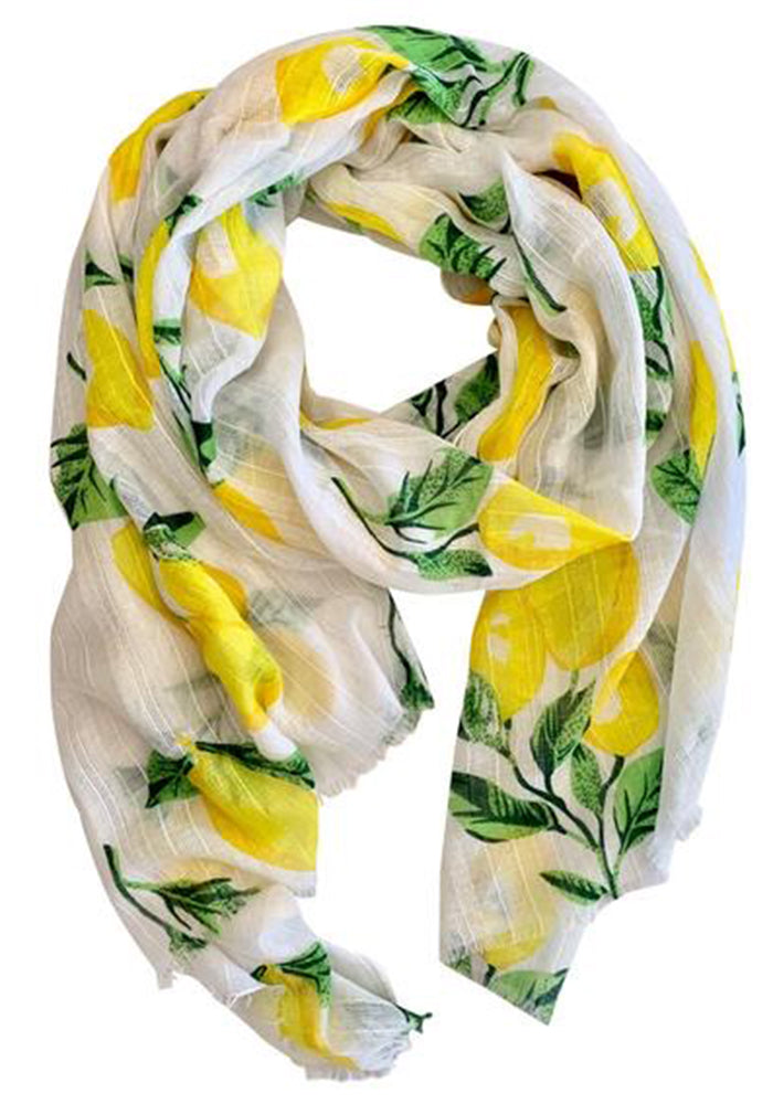 Load image into Gallery viewer, LIGHT WEIGHT SCARF - CITRUS PRINT