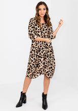 Load image into Gallery viewer, CARRINGTON DRAPED LEOPARD DRESS